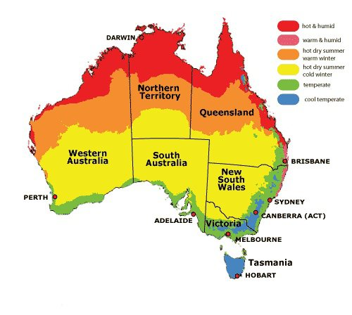 Climate Map Of Australia London Map - Australia climate map